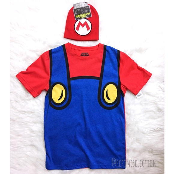Cosplay T-Shirt And Beanie Set. NWT. Nintendo 229cb8925cc1